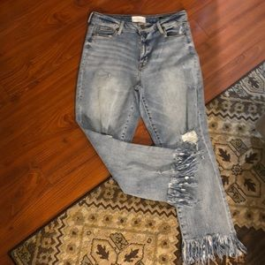 Parker Smith distressed straight leg jeans